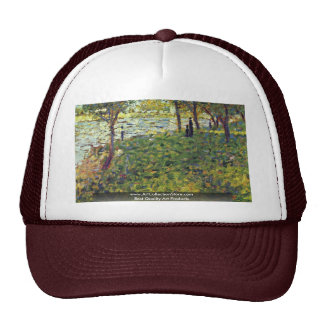 Paysage Et Personnages By Seurat Georges Mesh Hats