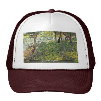 Paysage Et Personnages By Seurat Georges Trucker Hat