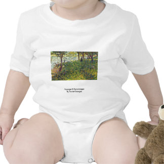 Paysage Et Personnages By Seurat Georges Shirts