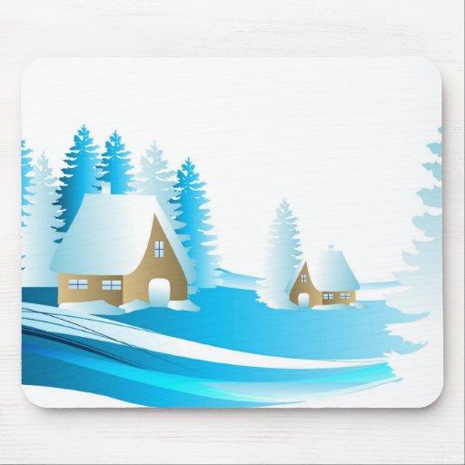 paysagen of Christmas Mousepad