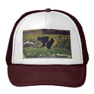 Paysan Au Travail By Seurat Georges Trucker Hat