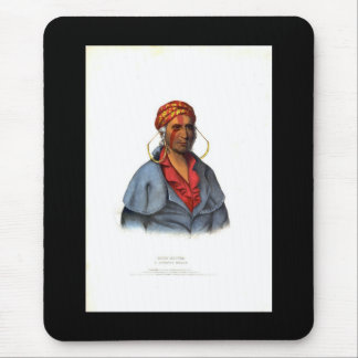 Payta Kootha A Shawanoe Warrior 1838 Mouse Pads