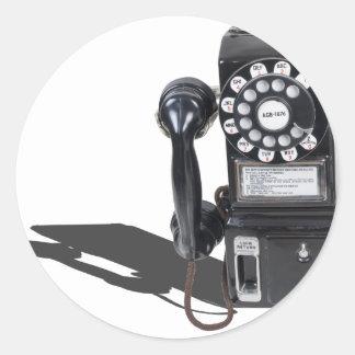 PayTelephone103013.png Classic Round Sticker