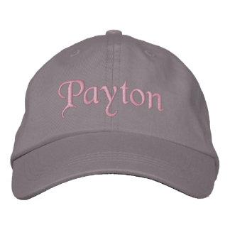 Payton bordó gris del rosa del gorra de la gorra d gorra de beisbol bordada