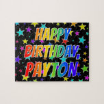 "[ Thumbnail: ""Payton"" First Name, Fun ""Happy Birthday"" Jigsaw Puzzle ]"