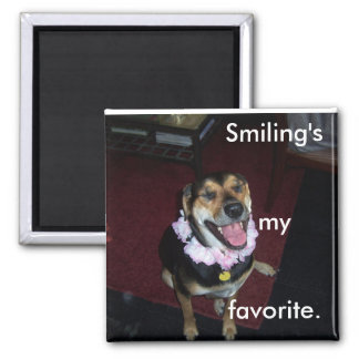Payton lei 2, Smiling's my favorite. 2 Inch Square Magnet