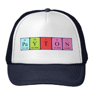 Payton periodic table name hat