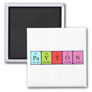 Payton periodic table name magnet