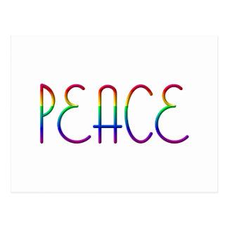 Paz #1 tarjeta postal