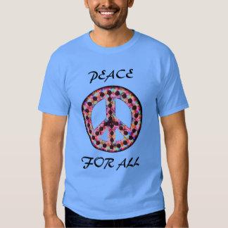 paz 5-Color para toda la camiseta Poleras
