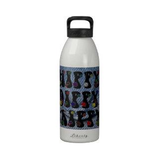 Paz 60s del amor del hippy botellas de beber