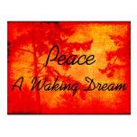 Paz A que despierta sueño Postal