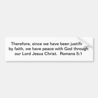 Paz a través de Cristo Pegatina Para Auto