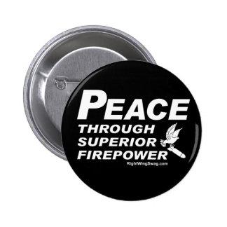 Paz a través del botón superior de la potencia de  pin