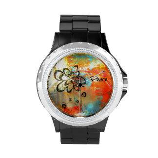 Paz abstracta relojes