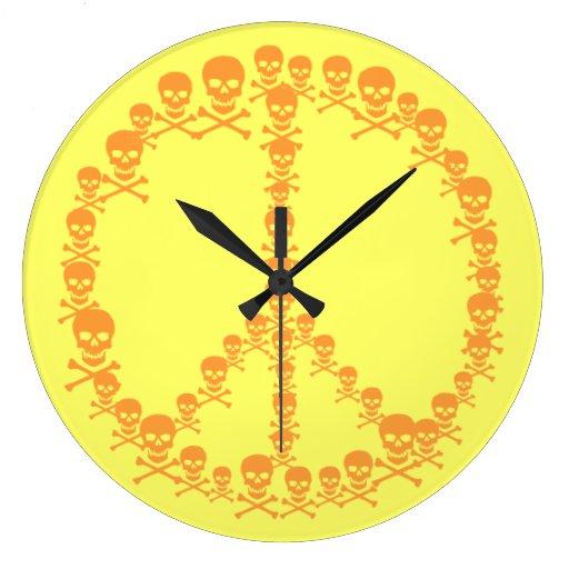 Paz adaptable de Skully Reloj Redondo Grande