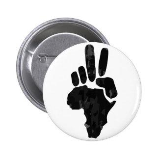 Paz africana pin redondo de 2 pulgadas