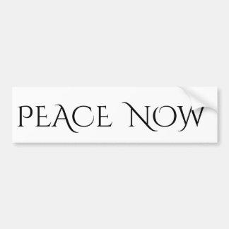 Paz ahora pegatina para auto
