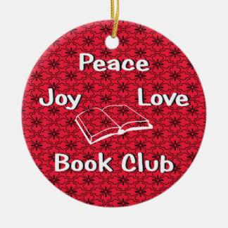 paz, alegría, amor, ornamento del círculo de adorno redondo de cerámica