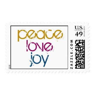 Paz, alegría del amor estampillas