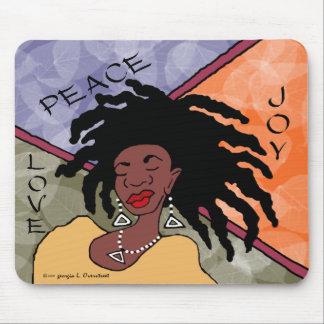 Paz, alegría y amor alfombrilla de raton