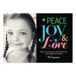 Paz, alegría, y tarjetas de la foto del día de fie comunicado personalizado