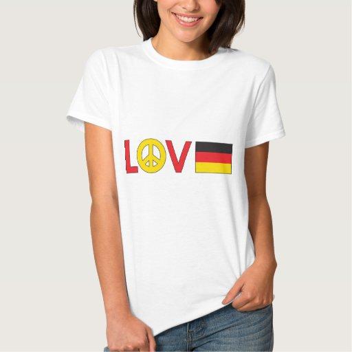 Paz Alemania del amor Playeras