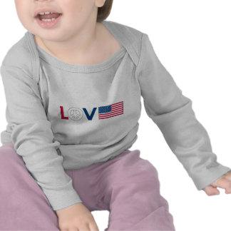 Paz América del amor Camisetas
