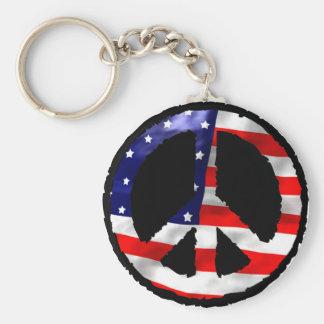 Paz americana llaveros