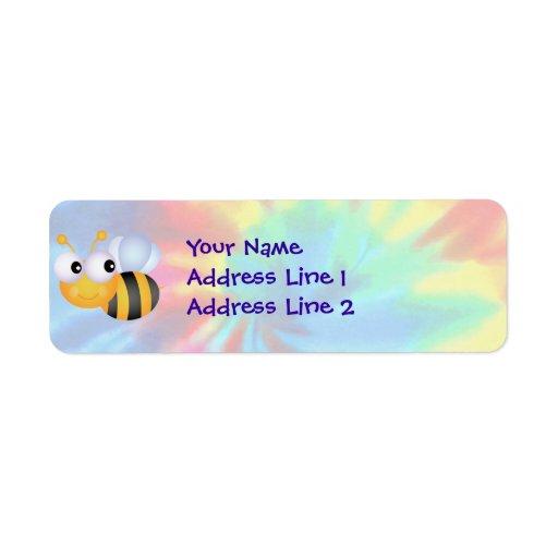 Paz, amor, abejas etiqueta de remite
