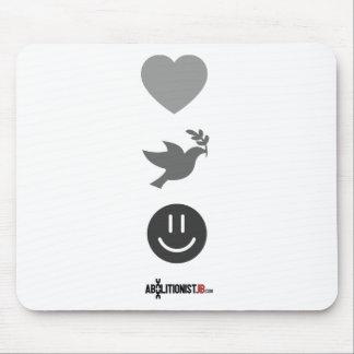 Paz, amor, abolición tapetes de ratones
