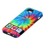 Paz, amor, acordeones iPhone 5 fundas