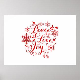 Paz, amor, alegría, Felices Navidad Póster