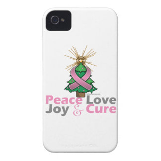 Paz, amor, alegría y curación del cáncer de pecho iPhone 4 Case-Mate funda