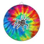 Paz, amor, arañas tablero de dardos