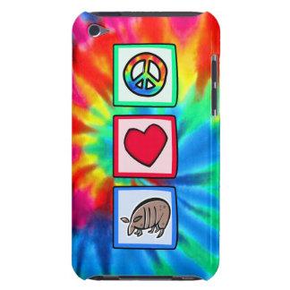 Paz, amor, armadillos barely there iPod cobertura