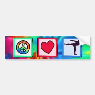 Paz amor artes marciales pegatina de parachoque