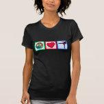Paz, amor, artes marciales camisetas
