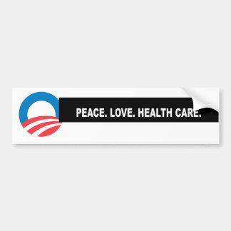 Paz. Amor. Atención sanitaria. Título Pegatina Para Auto