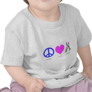 Paz. Amor. Autismo. (pastel coloreado) niño Camiseta