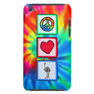Paz amor avestruces iPod touch Case-Mate carcasa