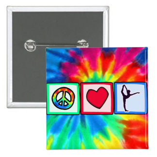 Paz, amor, ballet pin cuadrado