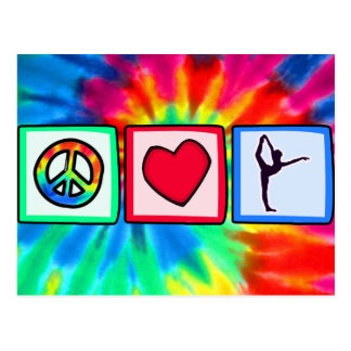 Paz, amor, ballet tarjetas postales