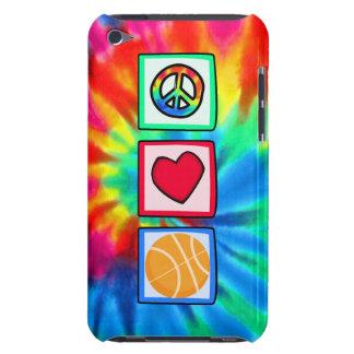 Paz, amor, baloncesto barely there iPod fundas
