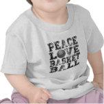 Paz, amor, baloncesto camisetas