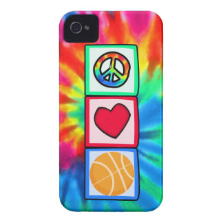 Paz, amor, baloncesto iPhone 4 cárcasas