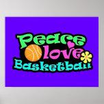 Paz, amor, baloncesto; Retro Poster