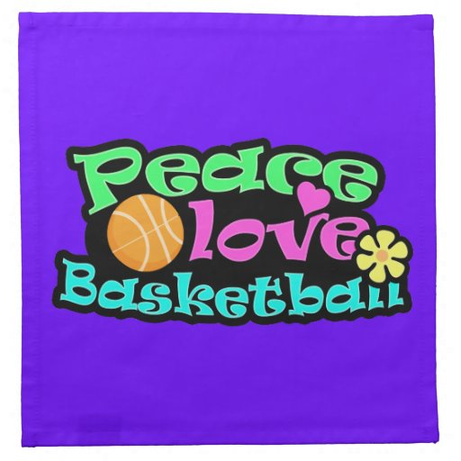 Paz, amor, baloncesto; Retro Servilletas Imprimidas