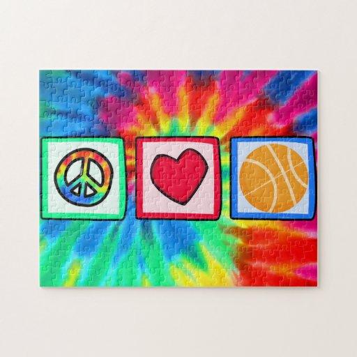 Paz, amor, baloncesto rompecabeza