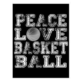 Paz, amor, baloncesto postales